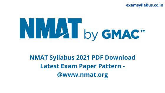 NMAT Syllabus 2021