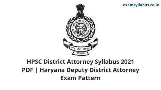 HPSC District Attorney Syllabus 2021