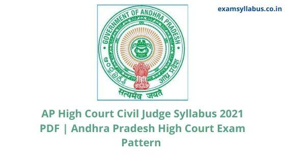 AP High Court Civil Judge Syllabus 2021